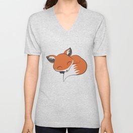 Little Red Fox Unisex V-Neck