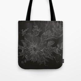 Mount Rainier, WA Contour Map Tote Bag