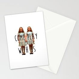 Come play with us Stationery Cards