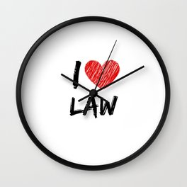 I Love Law Wall Clock