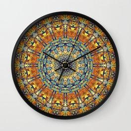 Vintage Gold Bohemian Mandala Wall Clock
