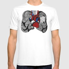 Heart&Lungs Mens Fitted Tee White MEDIUM