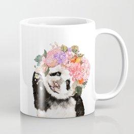 Baby Panda with Flowers Crown Coffee Mug