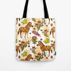 Zebras white pattern Tote Bag