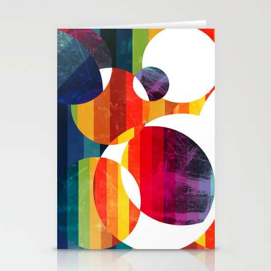 Abstract rainbow  Stationery Cards