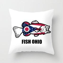 Fish Ohio Throw Pillow