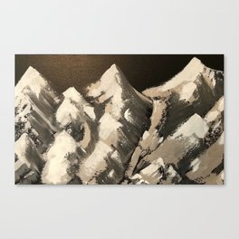 Silver Mountains Canvas Print