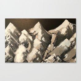 Silver Mountains Canvas Print