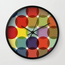 Retro Colored Dots Wall Clock