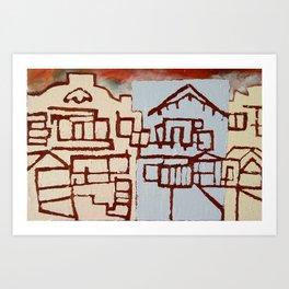 Judah Houses Art Print