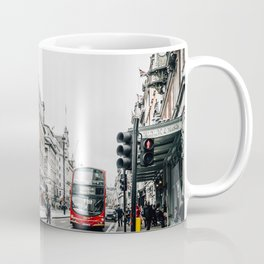 Red bus in Piccadilly street in London Coffee Mug