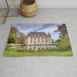 Chateau d'Azay-le-Rideau in Loire Valley, France. Rug