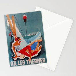 vintage Plakat Ax Les Thermes Stationery Cards