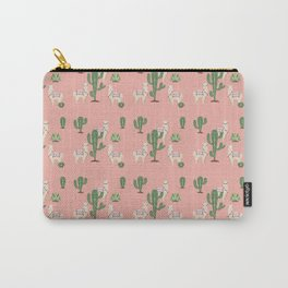 Alpaca with Cacti Carry-All Pouch