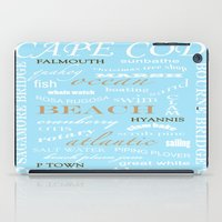 cape cod iPad Cases featuring Cape Cod Typography Print by ELIZABETH THOMAS Photography of Cape Cod
