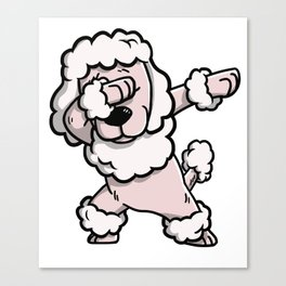 Dabbing Poodle Dog Dab Dance Canvas Print