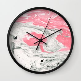 Marble + Bubblegum #society6 #decor #buyart Wall Clock
