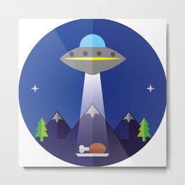 UFO Metal Print