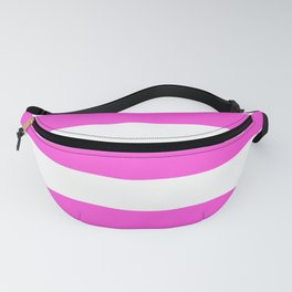 Purple pizzazz - solid color - white stripes pattern Fanny Pack