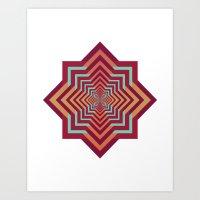 Psychedelic Geometric Art Print