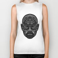 walter white Biker Tanks featuring Walter White by Jamie Bryan