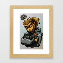 What did you say... Framed Art Print