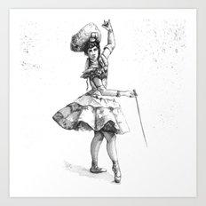 Equestrian Dancer Art Print
