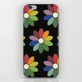Flower pattern based on James Ward's Chromatic Circle (vintage wash) iPhone Skin