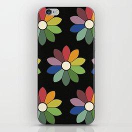 Flower pattern based on James Ward's Chromatic Circle (vintage wash) iPhone Skin