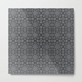 Sharkskin Geometric Metal Print