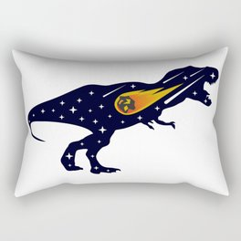 Dinosaur and meteorite strike #society6 #decor #buyart #artprint Rectangular Pillow