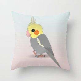 Cute cockatiel Throw Pillow