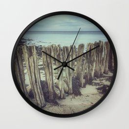 Walrus teeth still standing Wall Clock