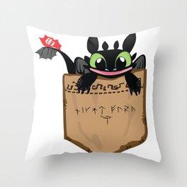 Toothless smile Throw Pillow