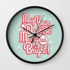 Merry & Bright Wall Clock