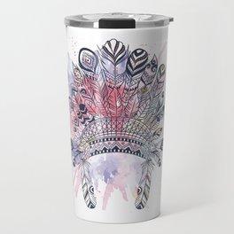 Native American headdress Travel Mug
