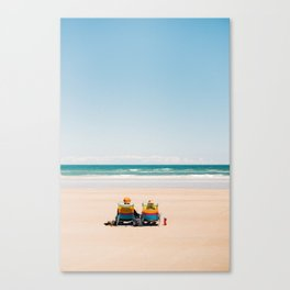 Relaxing in New Smyrna Beach Canvas Print