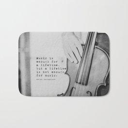 Music Quote Rachmaninov Bath Mat