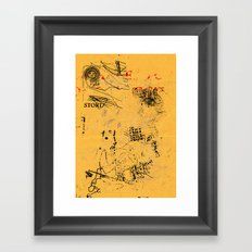 erased 4 Framed Art Print