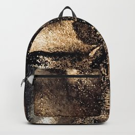 Black and gold abstract ink Backpack