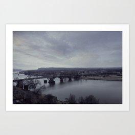 Arkansas River Bridge Art Print