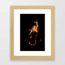 Bright Flames Framed Art Print