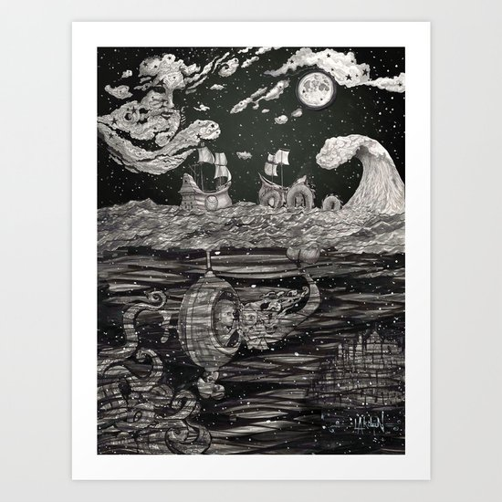 Jupiter's Guide For Submariners Art Print