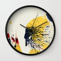 animal crew Wall Clocks featuring Animal by Arian Noveir
