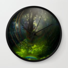 Rainbow Flare (Magic Garden Series) Wall Clock