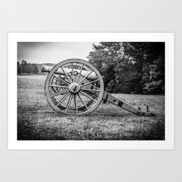 Bull Run Artillery Placement Manassas National Battlefield Park Virginia Black and White Art Print