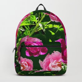 PINK PEONIES GREEN GARDEN VERDANT EXPERIENCE Backpack