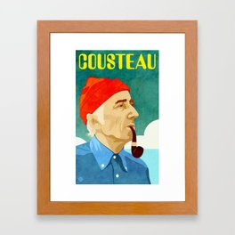 Jacques Cousteau Framed Art Print