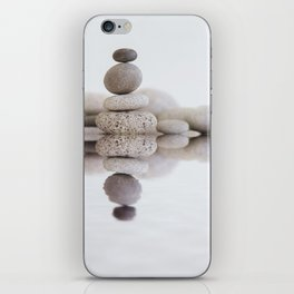 Stone Balance pebble cairn and water iPhone Skin