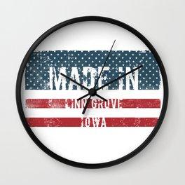 Made in Linn Grove, Iowa Wall Clock
